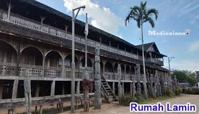 Rumah Adat Kalimantan Timur Rumah Lamin