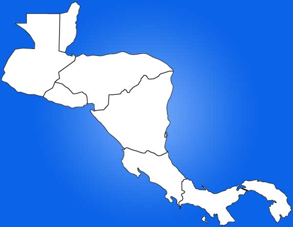 Central America Map Blank Outline