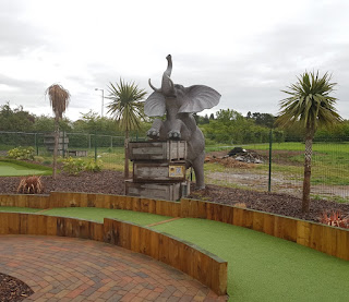 Nellie the elephant at Jungle Safari Adventure Golf in Worcester