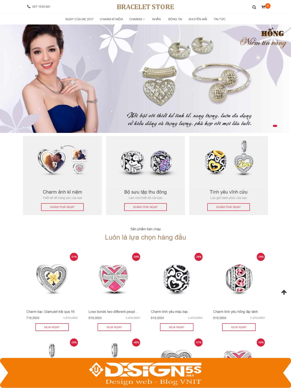 Mẫu Website Bán Trang Sức , Phụ Kiện Tuyệt Đẹp - Ảnh 1