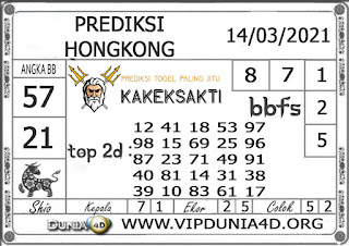 Prediksi Togel HONGKONG DUNIA4D 14 MARET 2021