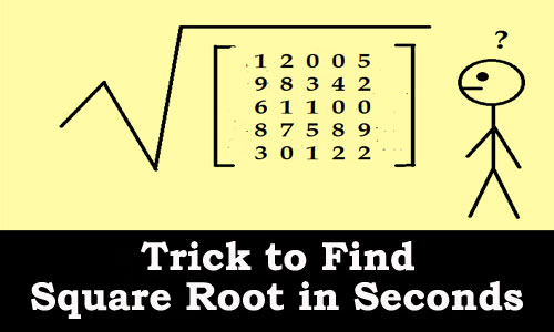 Kerala PSC - Trick to mentally calculate square roots in Seconds
