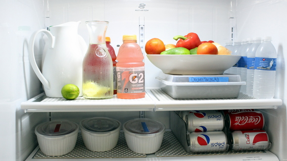 Organizing the fridge