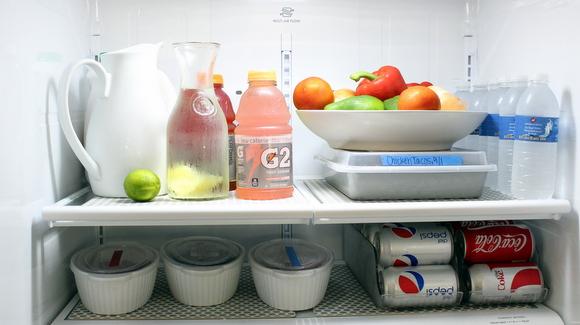 Organizing the fridge