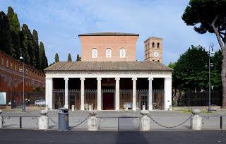 The Basilica of San Lorenzo Fuori le Mura adjoins the Cemetary of Campo Verano
