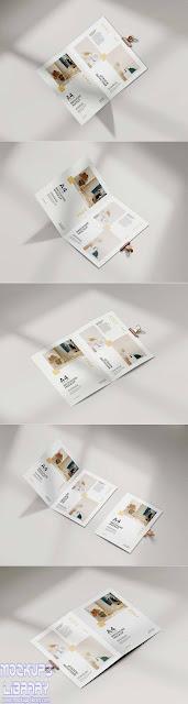 folded a4 brochure mockup 1