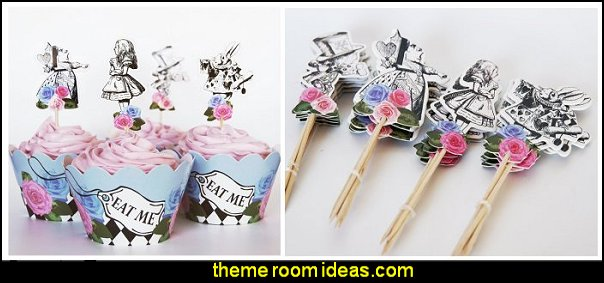 alice in wonderland tea party table decorations