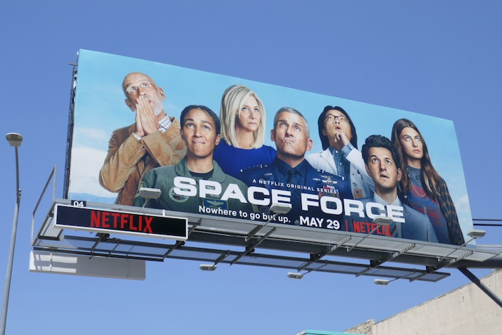 Space Force series premiere billboard