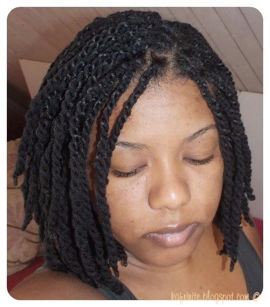 Model de coiffure avec tissage court