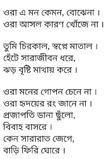 Hridoyer Rong Lyrics