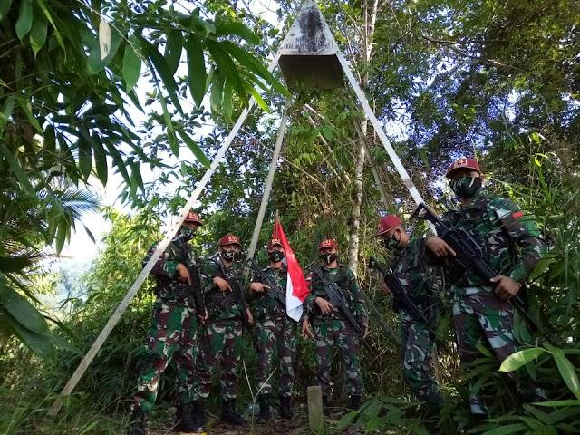 Satgas Yonif R-641 Perketat Jalur Tak Resmi  di Perbatasan RI-Malaysia