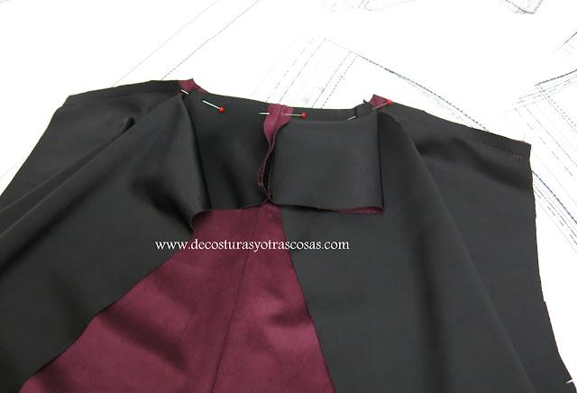 como coser un cuello fácil para una chaqueta