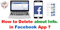 How to Delete About Information in Facebook Android?