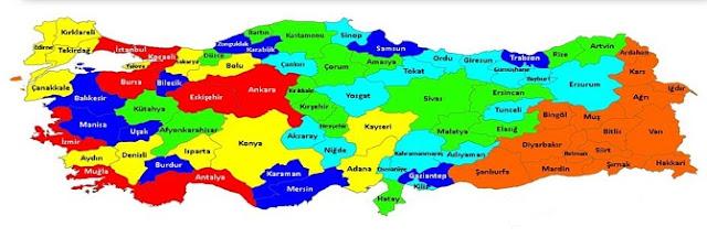 Türkiye Yedi Bölgede Gezilecek Yerler