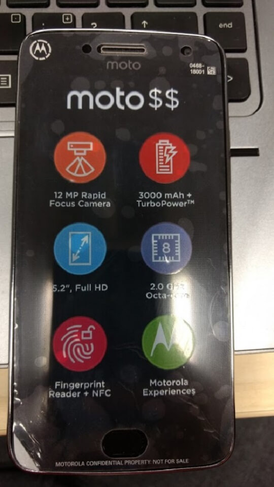 "Moto G5 Plus Leak Reveals 5.2"" Screen, 2.0GHz Octa-Core Processor and 3000mAh Battery"