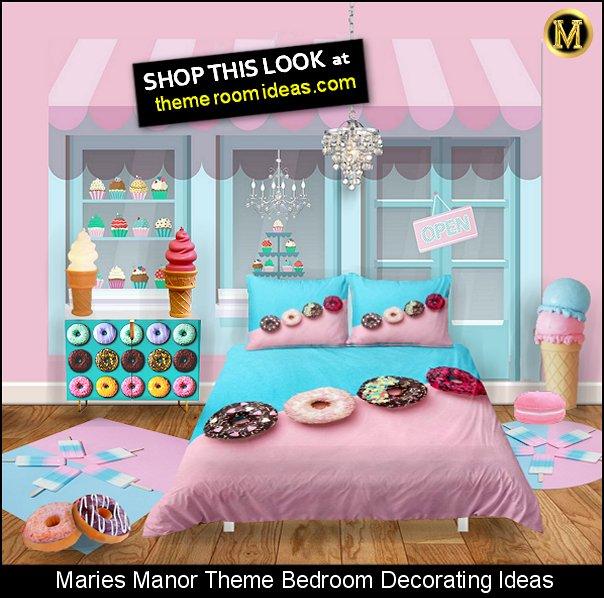 donut bedding donut pillows cake shop mural ice cream lamp ice cream rug ice cream decorating props