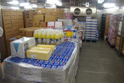 Depósito de alimentos do navio MSC Preziosa
