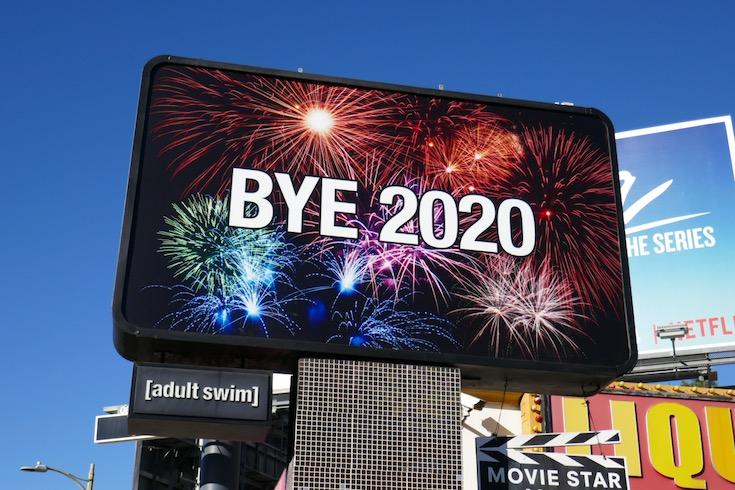 Bye 2020 Adult Swim billboard