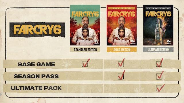 Ubisoft เปิดตัวเกม Far Cry 6 Standard Edition, Gold Edition  และ Ultimate Edition