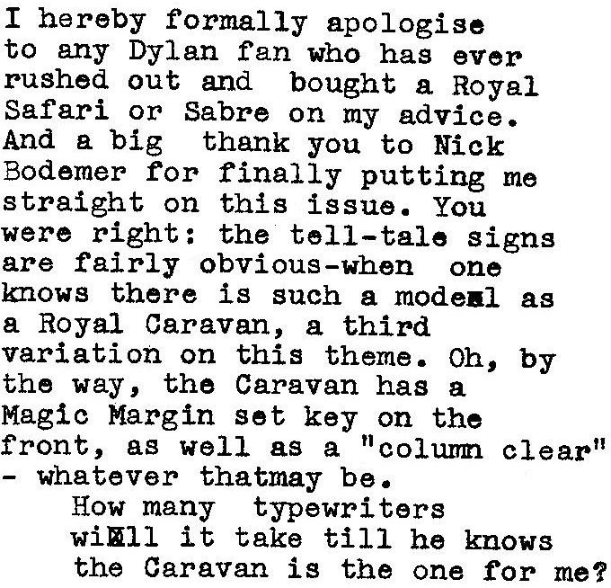 oz.Typewriter: The Very Last Word on Dylan's Typewriter