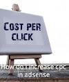 Increase cpc adsense website