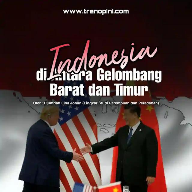 AS telah mendesak banyak negara Asia Tenggara untuk bergabung menahan China secara politik dan militer. Negara-negara ASEAN, termasuk Indonesia yang pragmatis, seperti berada di persimpangan. Antara memilih China yang 'amat royal' memberi keuntungan ekonomi atau AS yang memiliki berbagai keunggulan, termasuk kekuatan pangkalan-pangkalan militernya di Filipina, Singapura, dan Jepang.