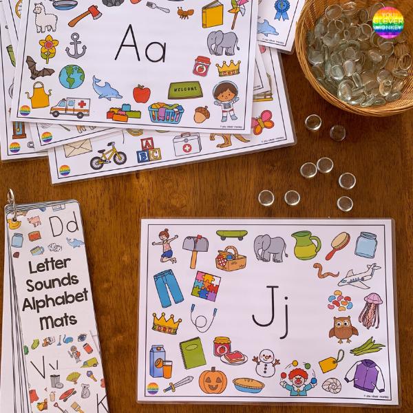 Beginning Sound Alphabet Mats | you clever monkey