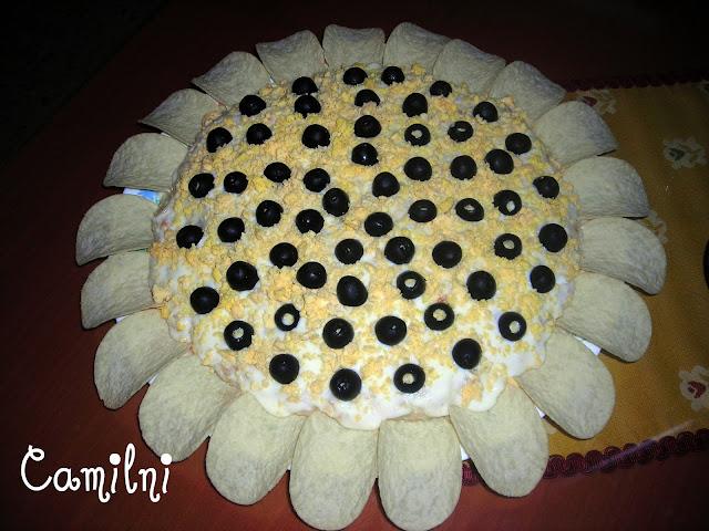 Girasol de ensaladilla (La cocina de Camilni)