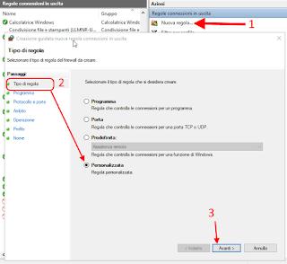 Regola personalizzata firewall - Cortana 1