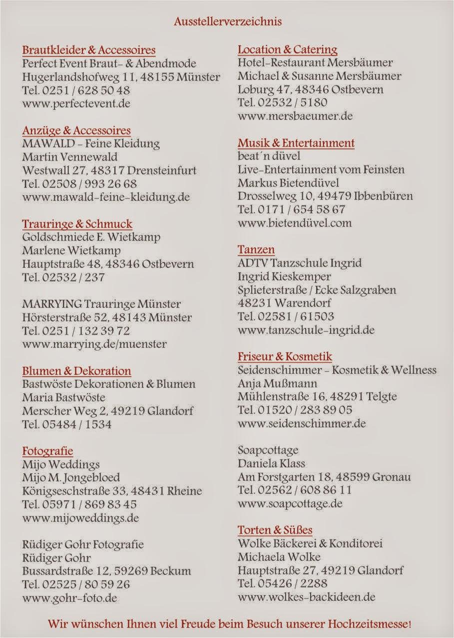 Hochzeitsband NRW Niedersachsen Bremen Mnster