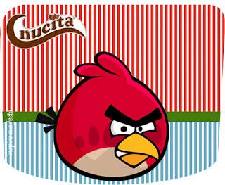 Etiqueta Nucita para Imprimir Gratis de Angry Birds.