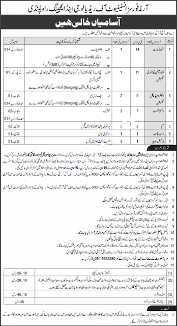 Armed Forces Institute of Radiology and Imaging Rawalpindi jobs 2021 Latest