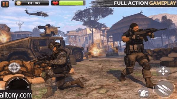 تحميل لعبة ريل كوماند سيكرت Real Commando Secret للأندرويد
