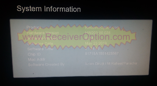 GX6605S HW203.00.028 TYPE HD RECEIVER TEN SPORTS OK NEW SOFTWARE