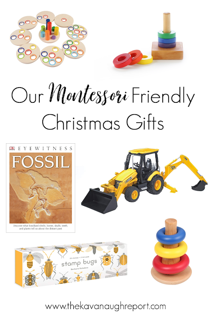 A look at the Montessori friendly items we chose for Christmas