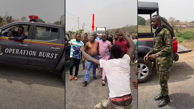 VIDEO: DSS, Police Attempt To Arrest Sunday Igboho On Ibadan-Lagos Expressway (Watch Video)