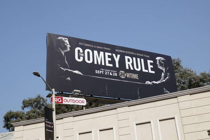 Comey Rule Showtime billboard