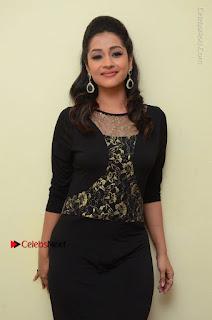 Telugu Actress Manasa Manohar Stills in Black Long Dress at Naku Nene Thopu Turumu Trailer Launch  0064.JPG