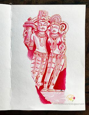 Vishnu-Lakshmi-Inktober2018-HuesnShades