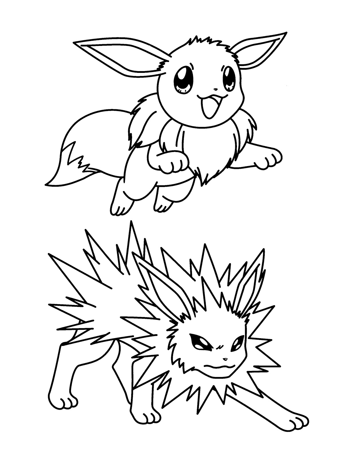- Free Printable Pokemon Jolteon Coloring Pages - Free Pokemon