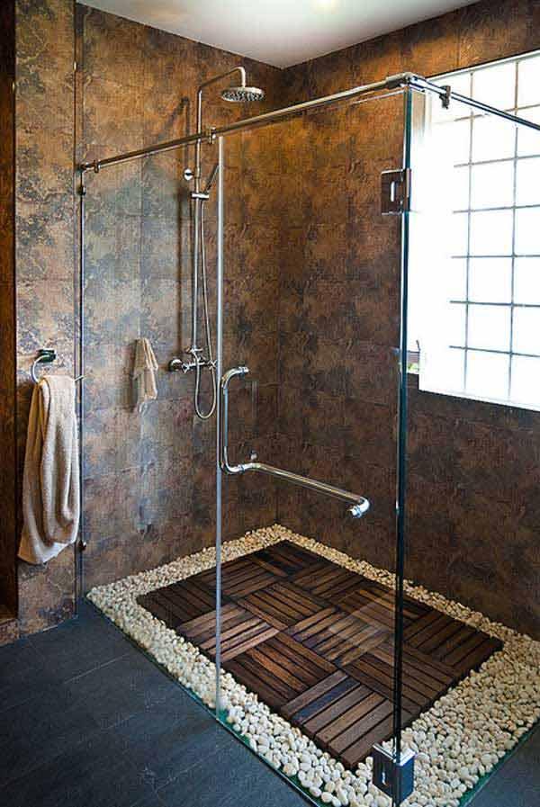 tu ducha pueden ser piedras de colores o del color que ms te gusten dndole un toque ms natural incluso los maseteros ahora tendrn un estilo sper