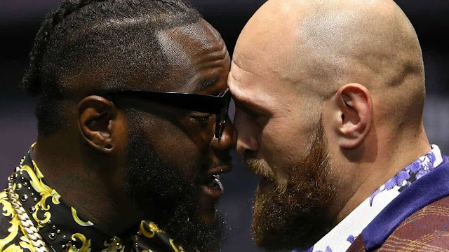 deontay wilder tyson fury faceoff