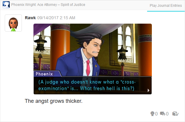 Phoenix Wright Ace Attorney Spirit of Justice Judge cross-examination what fresh hell is this