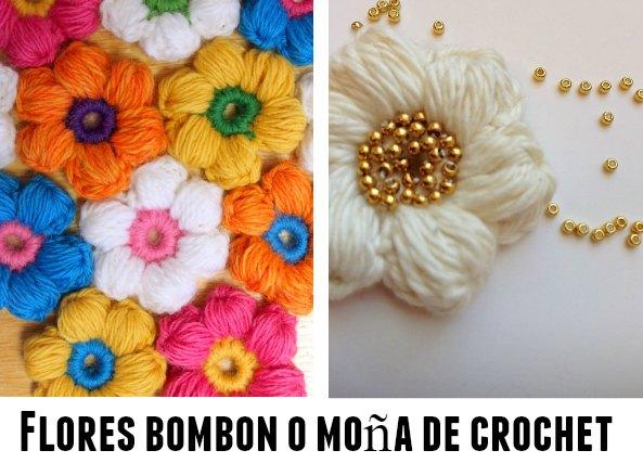Flores crochet bombon 3 tutoriales originales