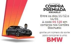 Cadastrar Promoção Riachuelo Compra Premiada Cartões - BMW Natal e Ano Novo 2018