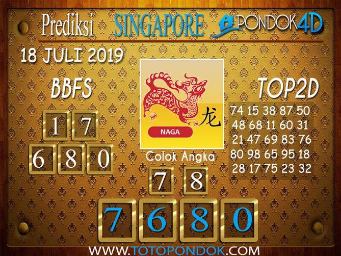 Prediksi Togel SINGAPORE PONDOK4D 18 JULI 2019