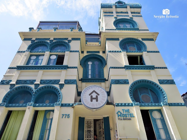 Perspectiva inferior da fachada do Palacete Mourisco - Vila Mariana - São Paulo