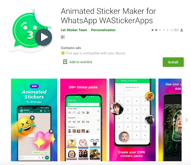 How To Send Animated Stickers On Whatsapp For Free !!