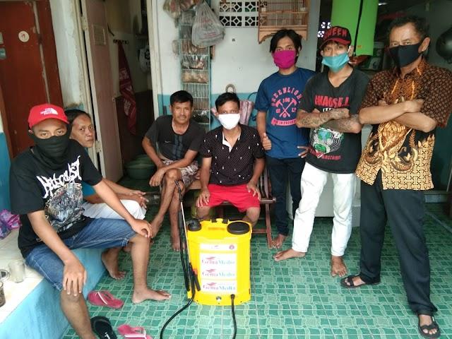MAC LMPP Bonjer Lakukan Penyemprotan di Kedaung Kali Angke, Cengkareng