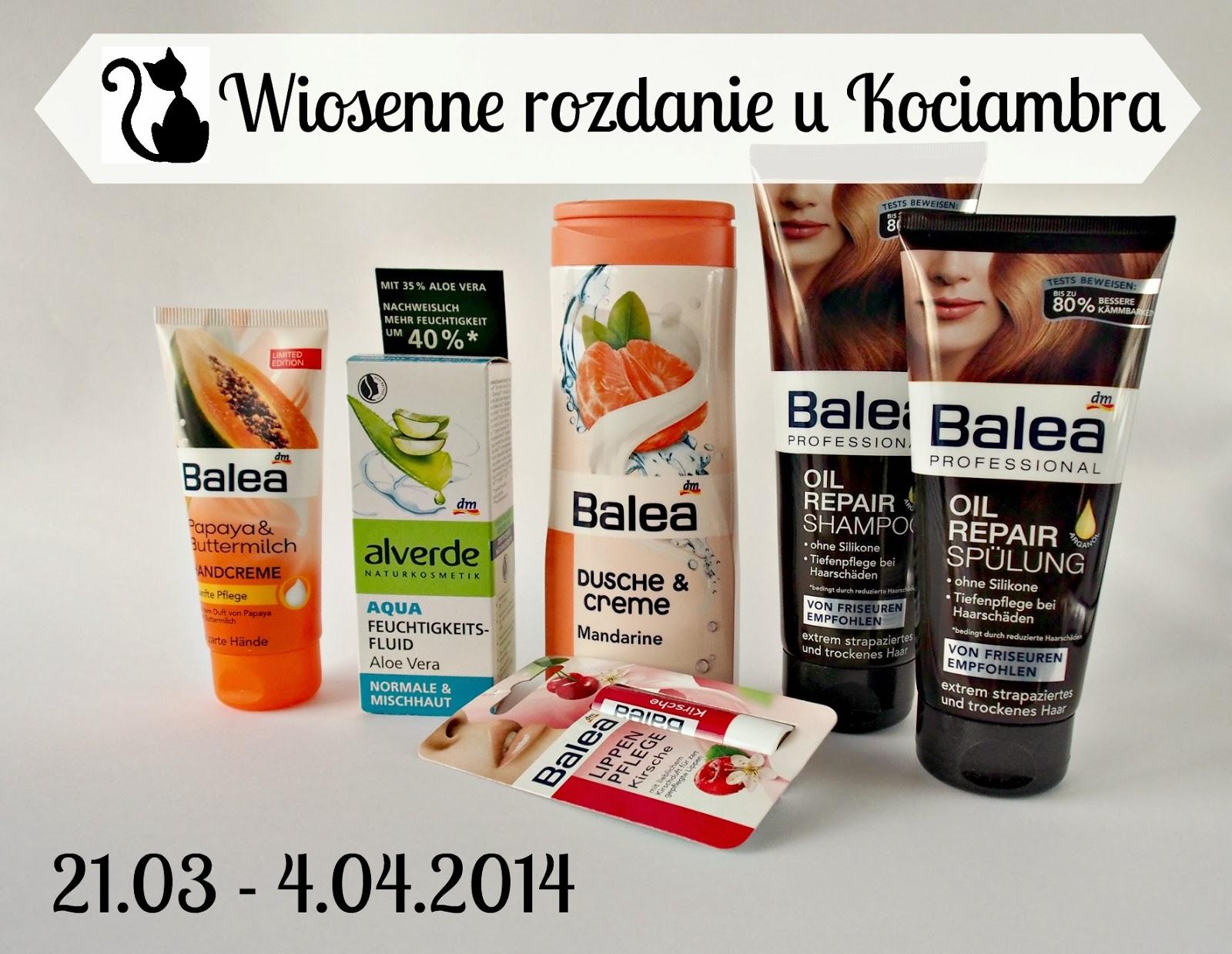 Wiosenne rozdanie z produktami Balea i Alverde!